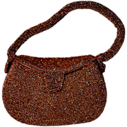 Belgian Copper Micro Bead Box Purse by Josef