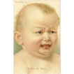 Crying Baby Postcard - Before the Bath - German American Novelty Art Series