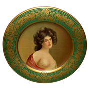 Vienna Art Plate of Claire - H.D. Beach Co, Coshocton - 1905