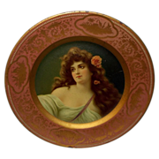 Advertising Vienna Art Plate of Louise - Hotel Majestic, Philadelphia - Meek Company