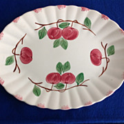"Blue Ridge , Southern Potteries, ""Autumn Apple"" Serving Platter"