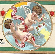 VALENTINE Post Card With Frolicking Cherubs