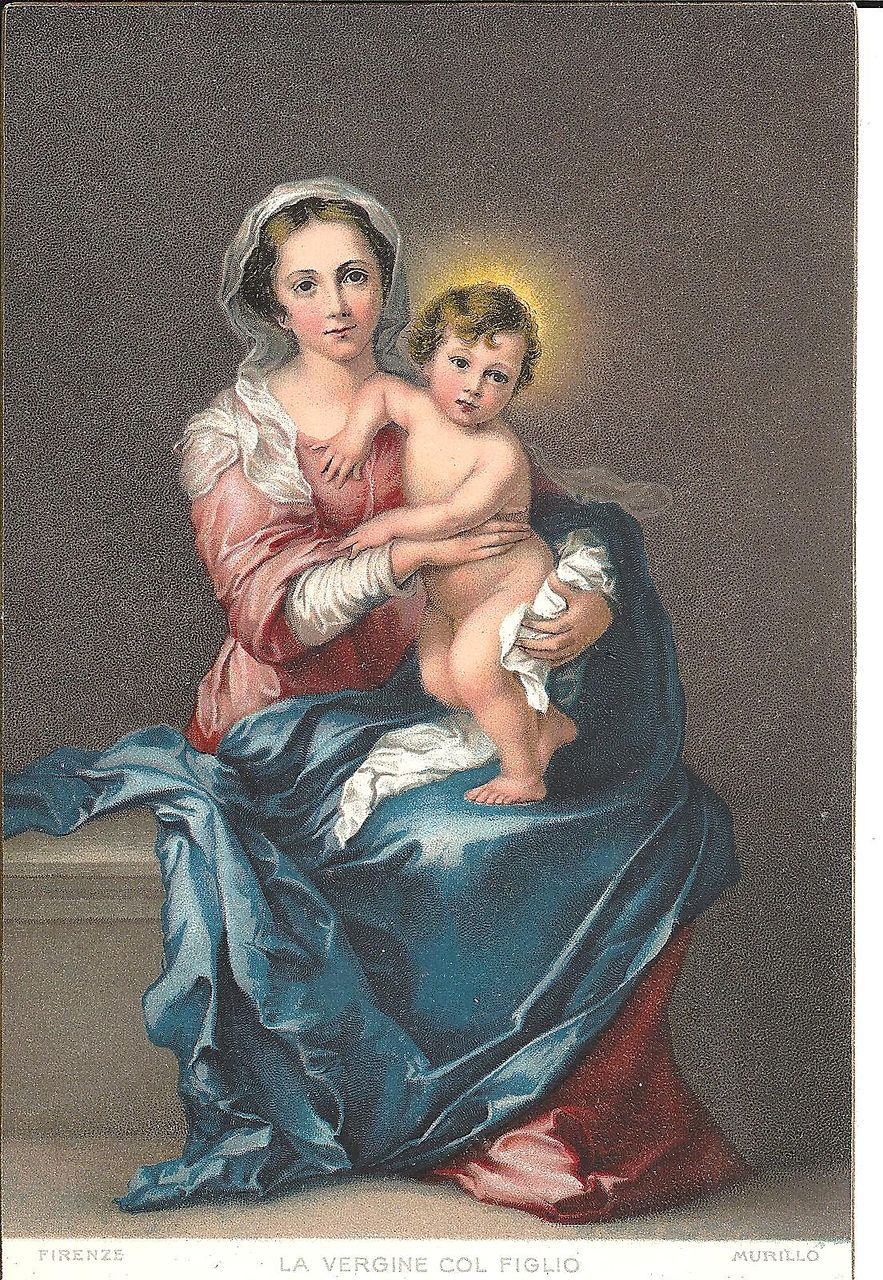 POST CARD, Madonna and Child, Baby Jesus, Mary