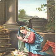 POSTCARD, Madonna and Child, Baby Jesus and Mary