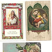 LOT Religious Post Cards~Madonna and Child~Nativity~1914