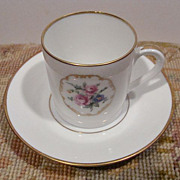 Furstenberg Demi-Tasse Cup and Saucer~Mid 20th Century