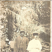 Vintage Photograph~Missing Person~Family Group Redwood Forest