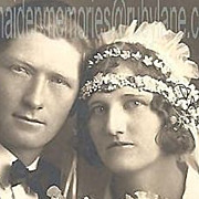 REDUCED Vintage Photograph~Wedding Couple~Notable Photographer~Hartsook