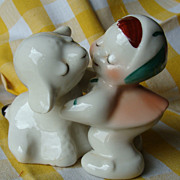 Mary Had a Little Lamb~Van Telligen Hugger Salt and Pepper Shakers
