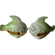 Bug-Eyed Silly Fish~Salt and Pepper Shakers~Souvenir Corpus Cristi, Texas