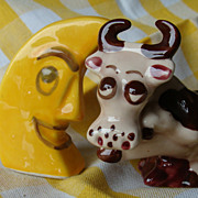 The Cow Jumped Over The Moon~Vintage Salt and Pepper Shakers