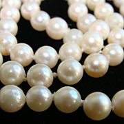 SALE SOLD~Single Strand Cultured Pearls~14K Gold Clasp