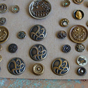 REDUCED 59 Antique Metal Buttons~Circa 1800's to 1940's