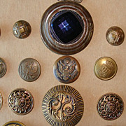 30 Wonderful Antique Buttons~Large Coat Sizes~Circa 1800's to 1940's