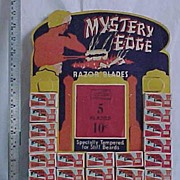 Mystery Edge Razor Blades Advertising Sales Display