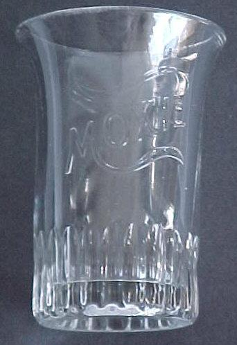 Moxie Soda Embossed Advertising Glass