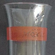 Moxie Soda Red-Banded Advertising Glass