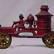 Early Cast Iron Toy Fire Truck