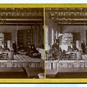 Elmwood, Rhode Island Interior Sprague's Store Stereoview by Manchester Bros