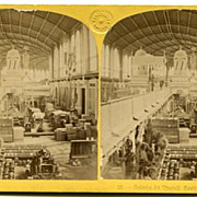 1867 Exposition Universelle Galerie du Travail Stereoview by Leon & Levy