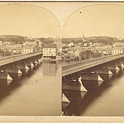 Auburn, Maine Stereoview Panorama from Lewiston