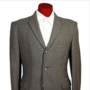 SALE Vintage 50s-60s Dunn 3 Button Tweed Sport Coat * 37-38 S
