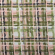SALE 40s - 50s Fine Polished Chintz by Waverly *Pimlico Plaid 6+ yds *Pink/Green  *Old/New