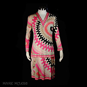 SALE Emilio Pucci 2 pc Skirt & Top 1960s *Silk Jersey