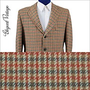 SALE Vintage 60's Harris Tweed Check Men's Sport Coat - 3 Btn *42-44