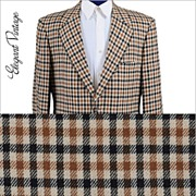 SALE 60s - 70s Men's Tattersall Check Cashmere Sport Coat *Ritners, The Breakers *42 -43L