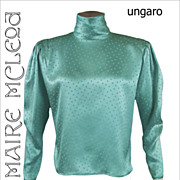 SALE Ungaro Silk Charmeuse Evening Blouse Top 1980's