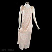 SALE 1960's Princess Irene Galitzine Silk Goddess Gown / Hostes Gown