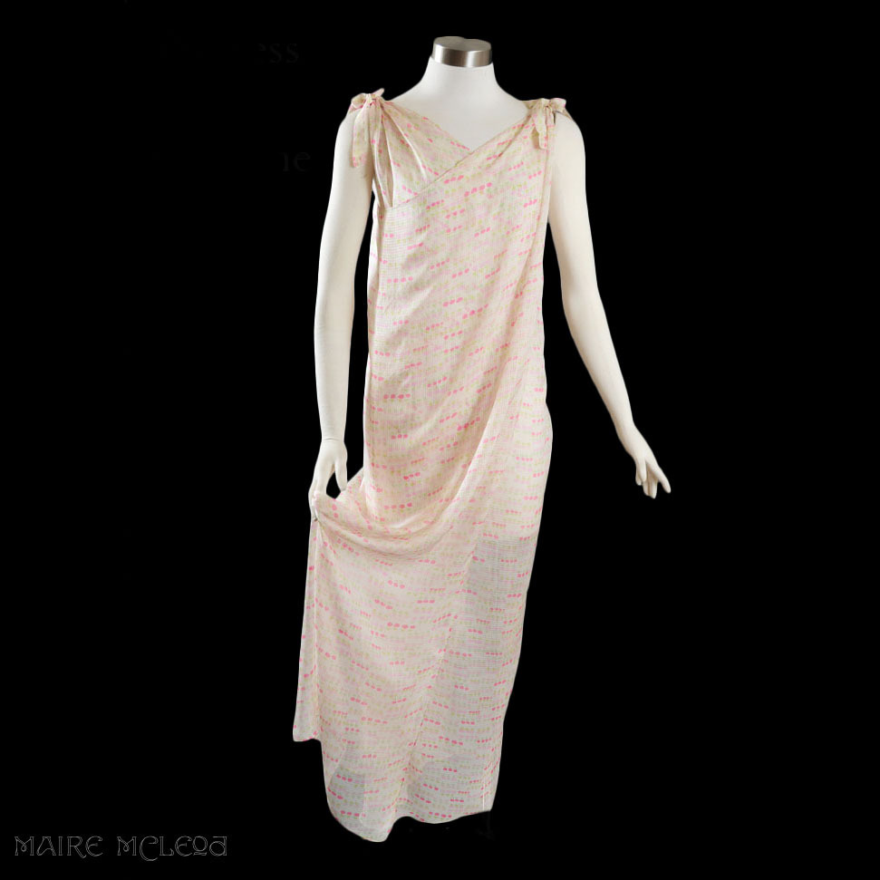 1960 S Princess Irene Galitzine Silk Goddess Gown Hostes