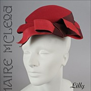 SALE Lilly Dach� Paris, NY 1950's  Petite Toque