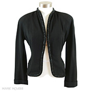 SALE Very Chic Beaded 1940's Womens Jacket *Harzfeld's *S