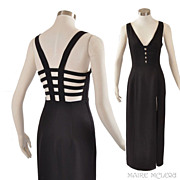 SALE Vintage Sexy Black Dress Gown - Betsy & Adam  S / M