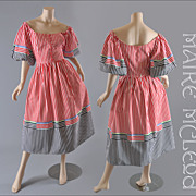 SALE 1970's Party Dress - Razooks - Dirndl Style - S / M