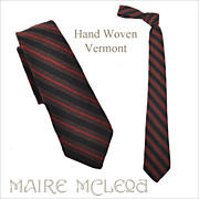 SALE Stripes - Vermont Homespun Men's Tie 1950's -  2-3/4""