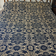 SALE Signed 1843 Archibald Davidson Coverlet - Birds of Paradise