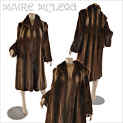 SALE Vintage Mink Coat - Unique Design - Steven Corn  S / M