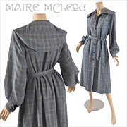 SALE Women's Vintage 1940's Plaid Coat / 3 Season - B. Altman  S / M