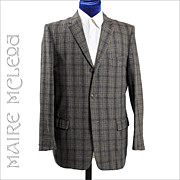 SALE 1960's Men's Tweed Plaid Sport Coat - 3 Button  40-41