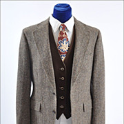 SALE Men's Vintage Harris Tweed Sport Coat Jacket  41-42