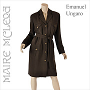 Vintage Emanuel Ungaro Knit Shirtwaist Dress - M