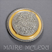 Rare F.J. Munster Deco 1930's Compact - Rhinestones, Enamel