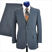 SALE BILL BLASS 1970's Men's Suit - Barney's International House - 3 Season - 38 / 39