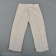 1920's Pants // Gatsby Era Mens Linen Pants  - B. Altman, NY & Paris