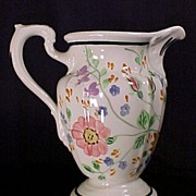 Blue Ridge China Pitcher, Milady #1 Shape, Palace Pattern