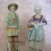 REDUCED Occupied Japan Bisque Porcelain Figurines c. 1945 � 1952