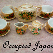 REDUCED Child�s Doll House Tea Set from Occupied Japan